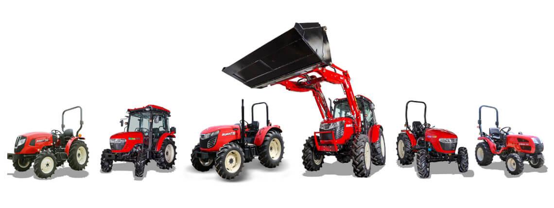Vi tilbyr også Branson traktorer